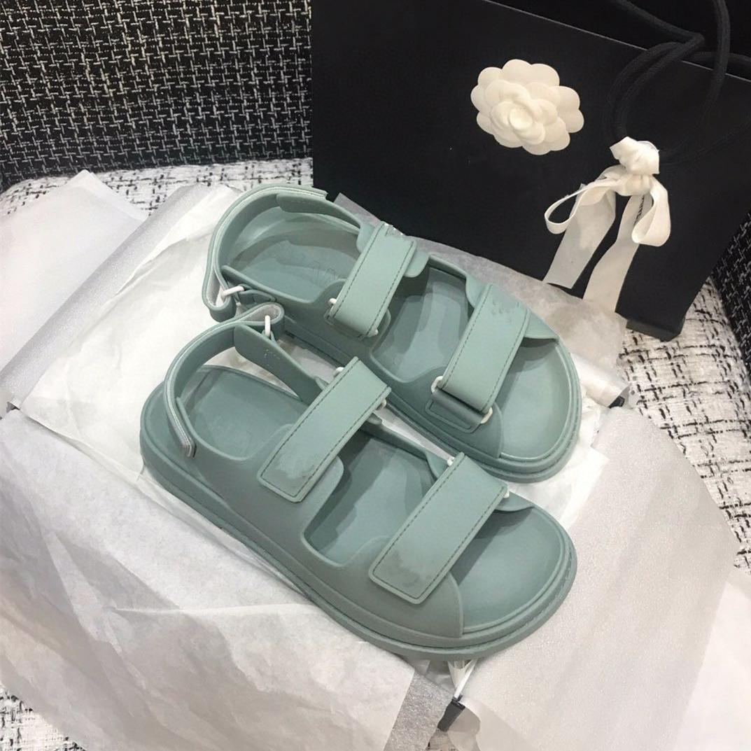 sweet mint green magic stick waterpoof beach shoes casual designer sandals luxury women fashion shoes size 35 to 41 tradingbear