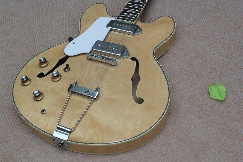 ES-335-jazz شبه جوفاء اليد اليسرى الغيتار الكهربائي مع الخشب - لون الجسم جيدة أ