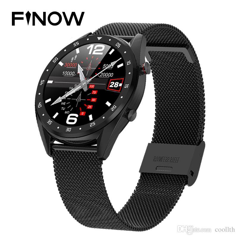 Finow L7 스마트 시계 핸드 링 IPS 전체 화면 블루투스 통화 심장 박동, 혈압 및 산소 모니터링 오프라인 지불