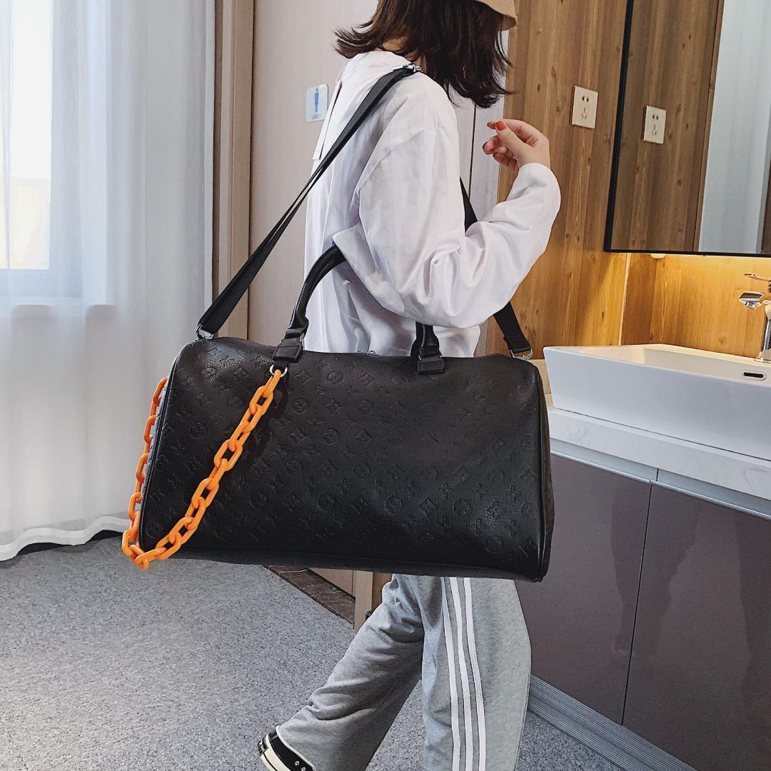 PU Пресбиопическая дорожная сумка для осени и зимы 2019 большой емкости путешествия ручной клади фитнес сумка на плечо