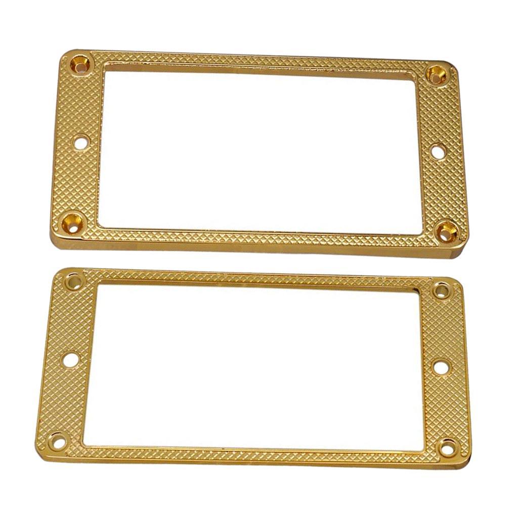2 Stück Pickup Rahmen, Befestigungsringe aus Metall Pickup Abdeckungen für LP-E-Gitarre Ersatzteile