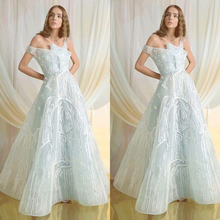 Broderie Robes de bal Encolure Illusion longue Longueur formelle robe de soirée Mesdames dentelle Appliqued cheville Parti Pageant Robes