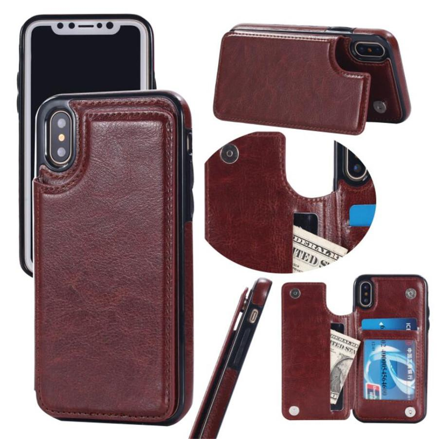 Multi-function card wallet leather phone case FOR:iphone Samsung Galaxy 6s 7 8 xr xs max s8 s9 note 8 9 plus