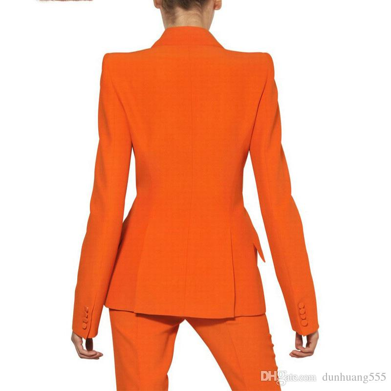 2019 Women Pant Suits Ladies Custom Made Formal Business Office Tuxedo Jacket+Pants Suits Female Office Uniform