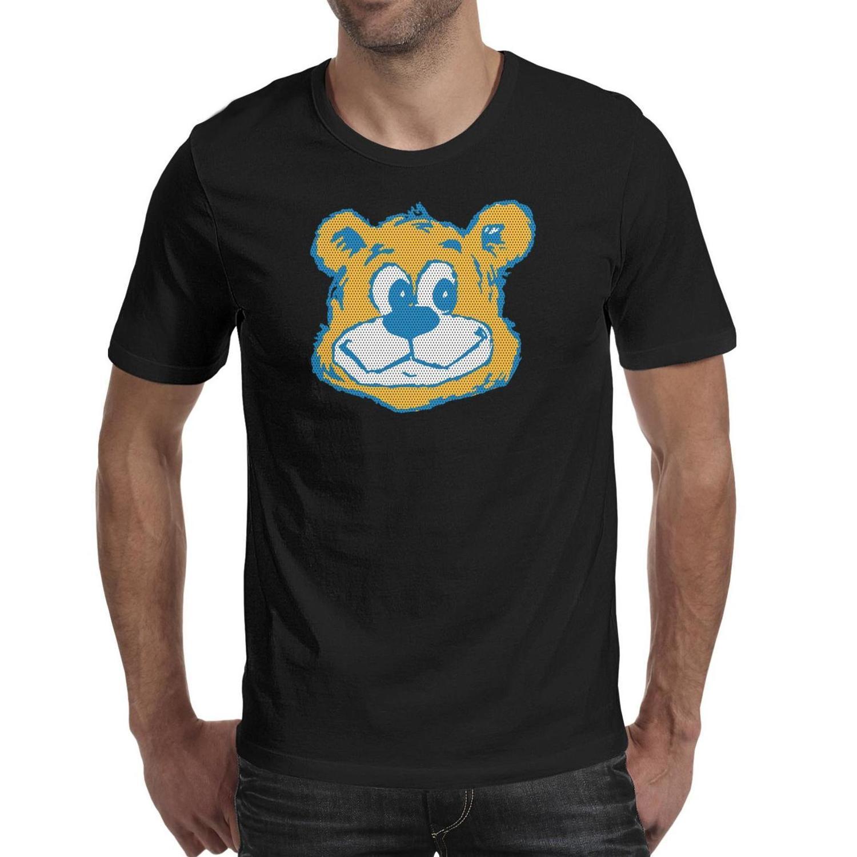 Мужская печать Калифорния Лос-Анджелес Брюинз Баскетбол Сетка черная футболка Дизайн Слоган Безумные рубашки Колледж Мрамор Печать логотипа Сердце