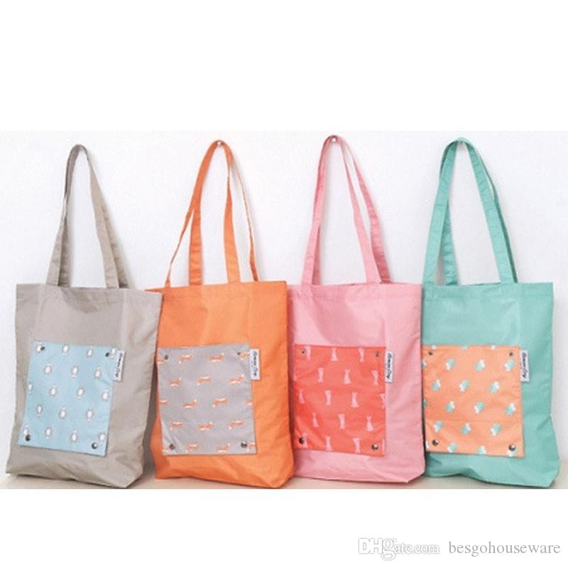 Wholesale Large Capacity Foldable Shopping Bags Quick Dry Reusable Storage Bag Eco Friendly Shopping Bags Tote Bags Shoulder BC BH0550