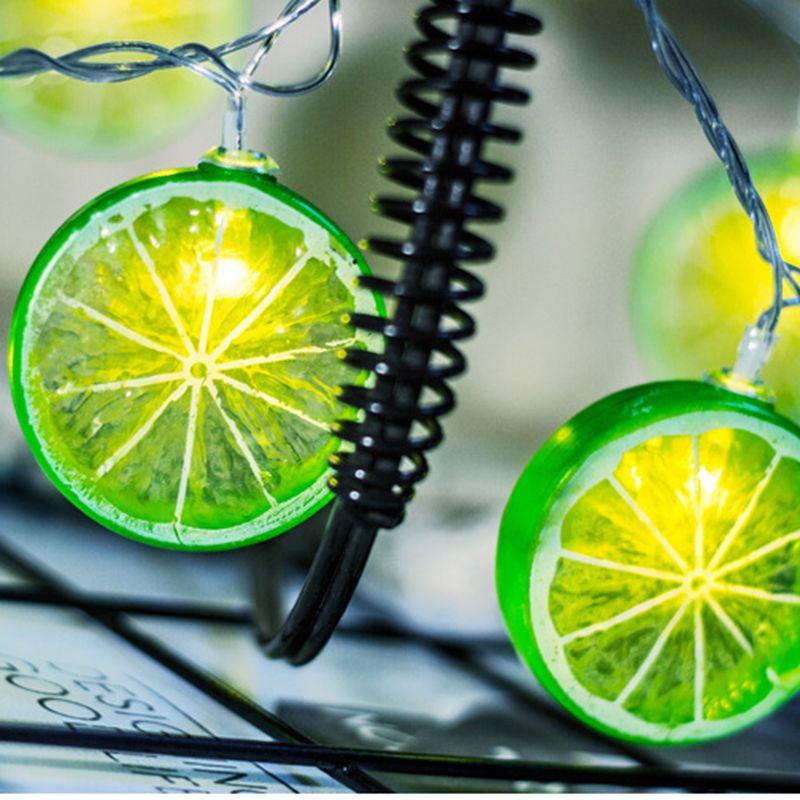 Fábrica Nova LED Fruit Lemon Slice Luz Cordas Holiday Party Corda Decoração de Natal loja de decoração Lantern Pingente Forma