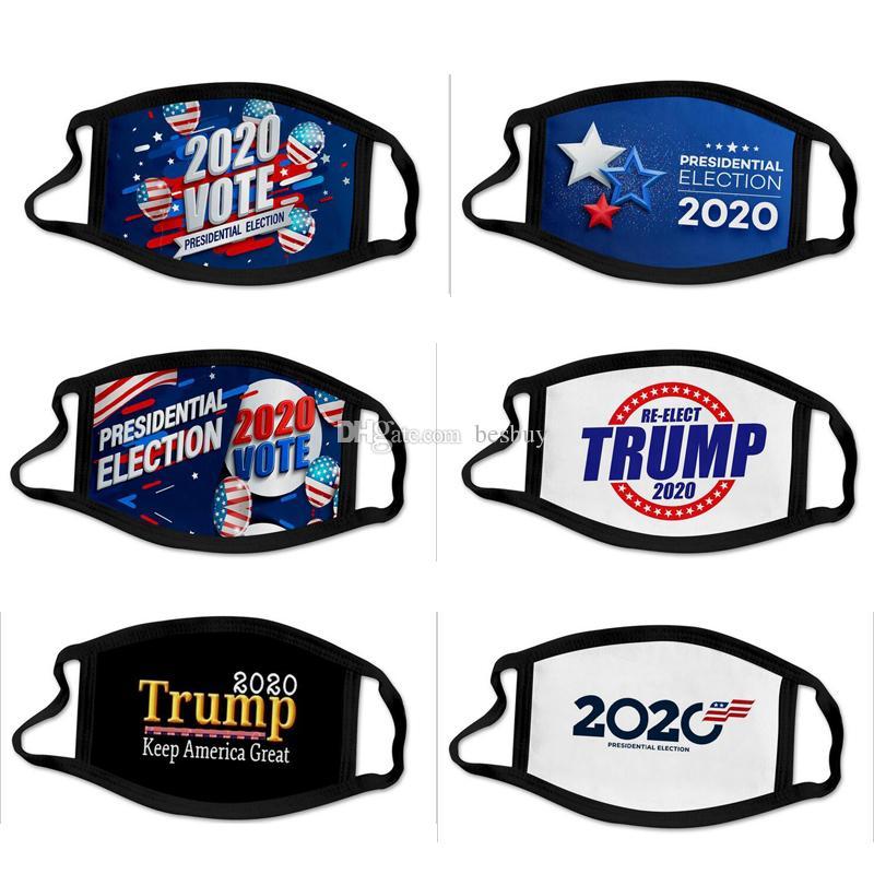 أحدث 50 أنماط 2020 دونالد ترامب قناع الوجه الفم قناع مضحك مكافحة الغبار القطن USA الأمريكية انتخابات الولايات المتحدة الأمريكية الأسود قابل للغسل MAGA قناع
