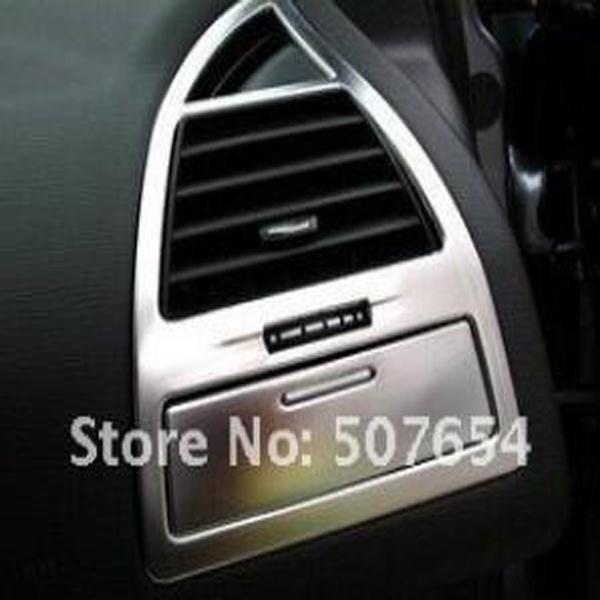 Higher star ABS chrome 4pcs Car air conditioning vents decorative frame,air outlet decoration cover for Citroen C4 2007-2011