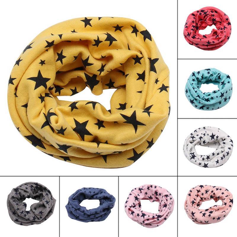 Spring Autumn Children's Cotton Scarf Baby Kids Scarf Winter Boys Girls Cartoon Scarves Child Collar O Ring Magic Neckerchief