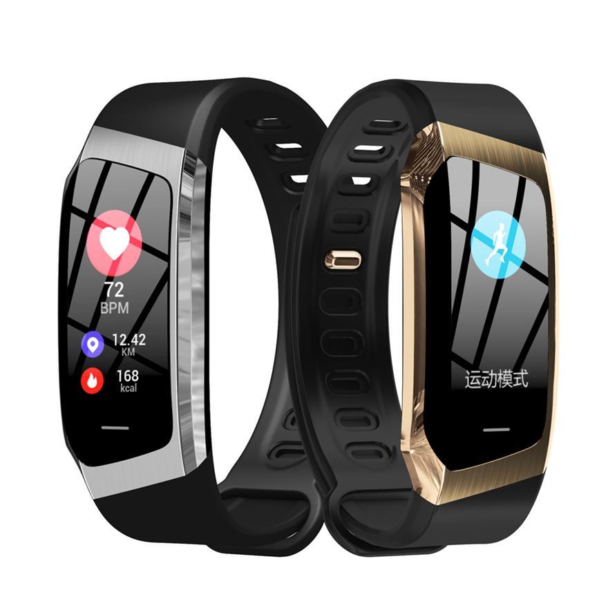Android ve IOS akıllı saat erkekler için Akıllı Bilezik E18 Nabız Spor Tracker Hayat Su geçirmez IP67 Spor Kol