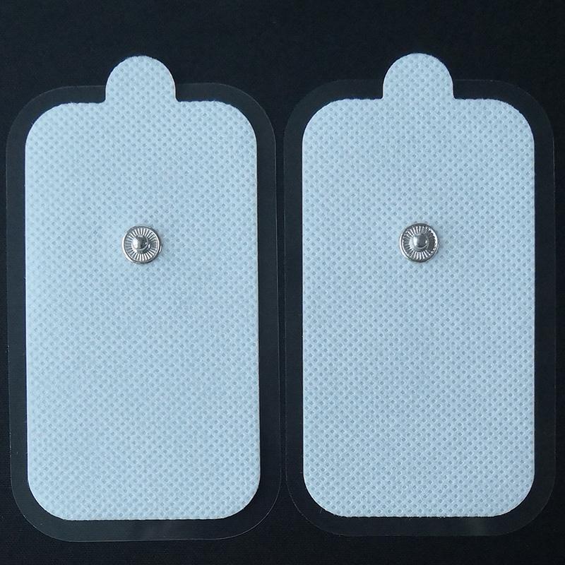 Cuscinetto elettrodi adesivi Tens Snap 2Inch * Stimolatore elettrico EMS 3,5 pollici Cuscinetti grandi 2 pezzi per confezioneCompatibile con la maggior parte dei modelli di macchine TENS