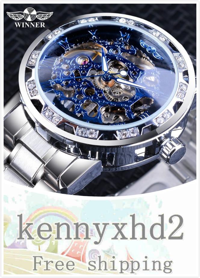 L098 2020 YENİ İzle erkek moda eğlence klasik popüler içi boş su sondaj manuel mekanik saat