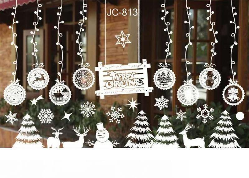 Removable Home Vinyl Window  Sticker White Snowman  Christmas Decoration Hot