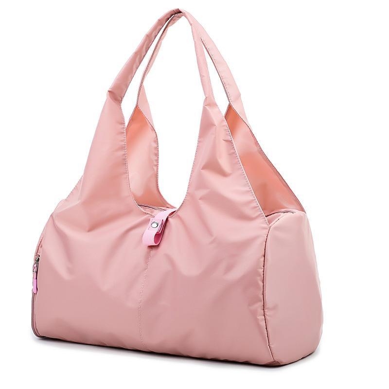 Novo saco grande capacidade multi bolso multifuncional impermeável leve nylon de ombro único saco mulheres da aptidão portátil