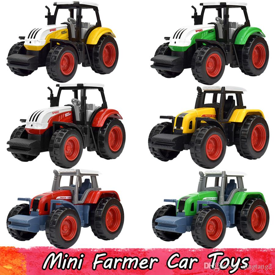 6 Pcs/Sets Alloy Farm Vehicles Engineering Van Mini Farmer Cars Model Toy Educational Toys Tractor Diecast Gift For Boy Children