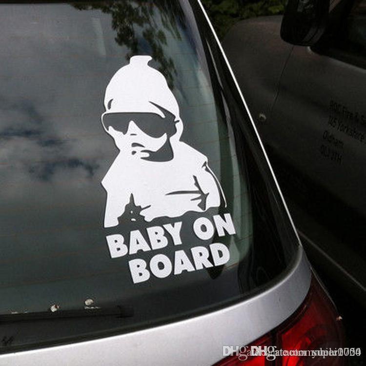 Kurul Araç Emniyet Sticker Çıkartması Bebek Su geçirmez Gece Yansıtıcı Duvar Etiketler araba örtüleri
