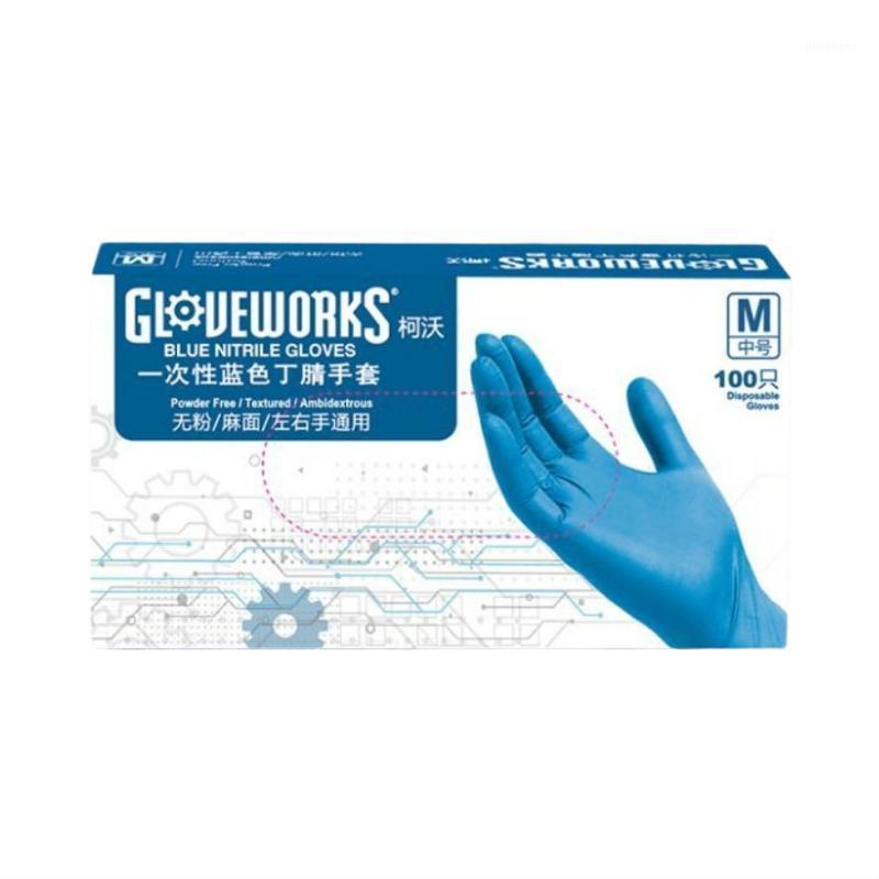 Анти-V Нитриловая резиновая одноразовая перчатка AMMEX SGS прочные Беспорошковые перчатки для MD EMD ER LAB Professional Used1