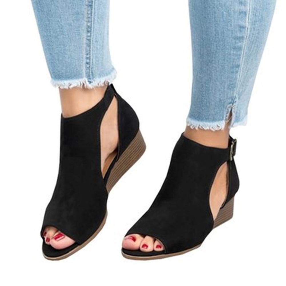 Sandali con plateau Donne 3 Stile estate cuneo donne sandali gladiatore Open Toe Sandals casuale delle donne per le scarpe delle donne