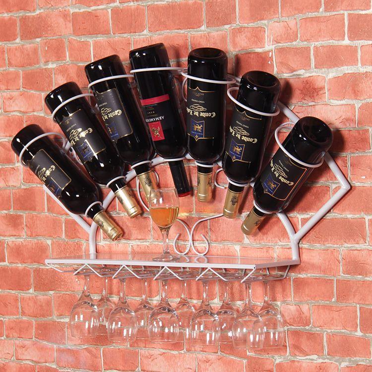 Posta del sacchetto del calice dell'esposizione dello scaffale dell'uva da vino della decorazione della parete della cremagliera del vino del ferro libero di trasporto