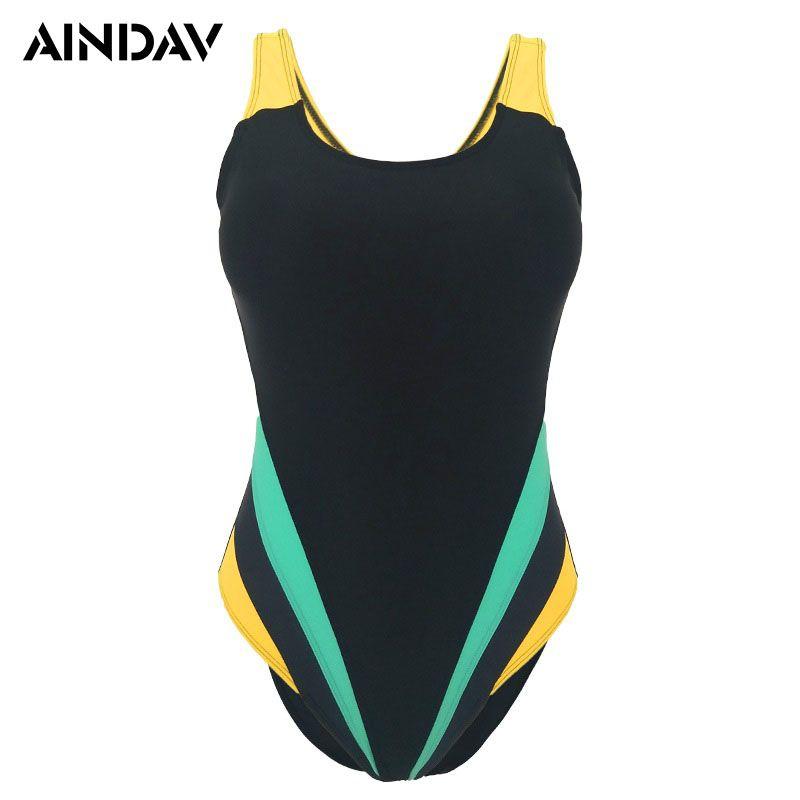 M-5XL Atleta Profissional de banho Mulheres One Piece Swimwear Grande Plus Size Trikini acolchoado Swimsuit Formação terno de banho