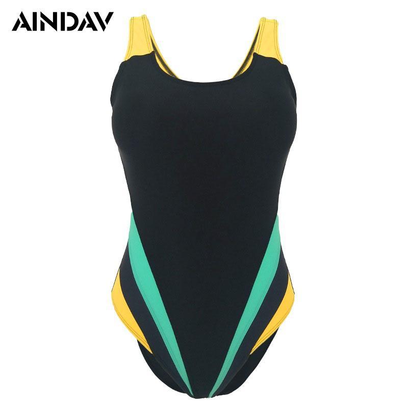 M-5XL Professional Sport Swimsuits Women One Piece Swimwear Large Plus Size Trikini Padded Swimsuit Training Bathing Suit
