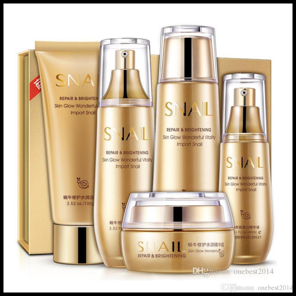 Bioaqua oro Lumaca Viso Skin Care Set Crema Idratante Tonico viso Essenza Latte detergente Corea Set Facial