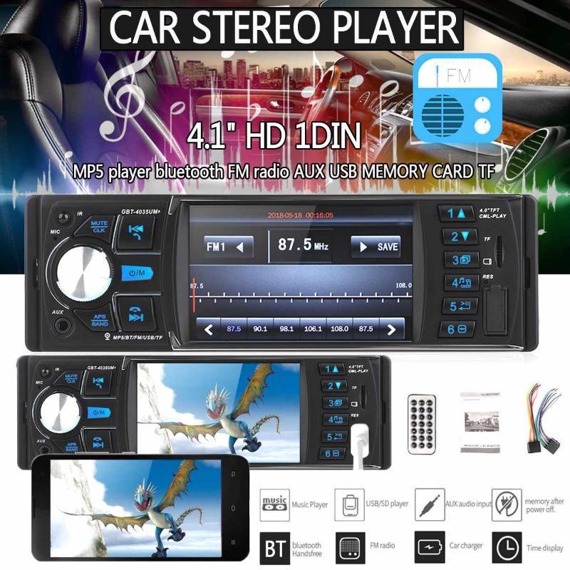 4.1 بوصة HD الشاشة صوت ستيريو ومشغل الوسائط المتعددة السيارات 1 DIN سيارة راديو بلوتوث Autoradio MP5 USB كاميرا TF دعم الرؤية الخلفية