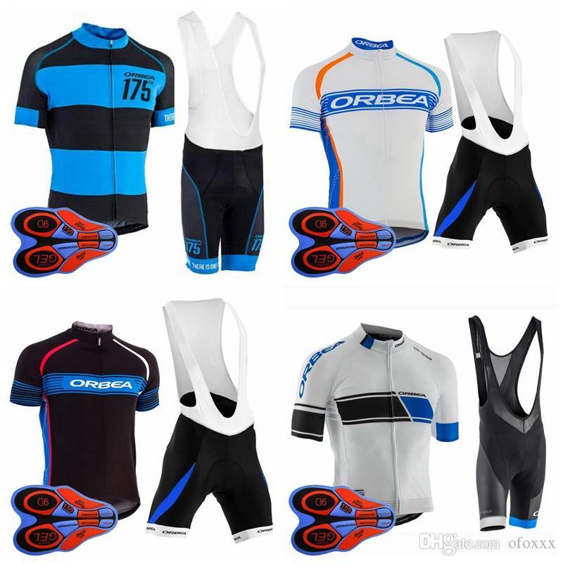 ORBEA 팀 자전거 짧은 소매 저지 턱받이 반바지 세트 통기성 남성 짧은 소매 턱받이 반바지 야외 스포츠 저지 세트 S82830