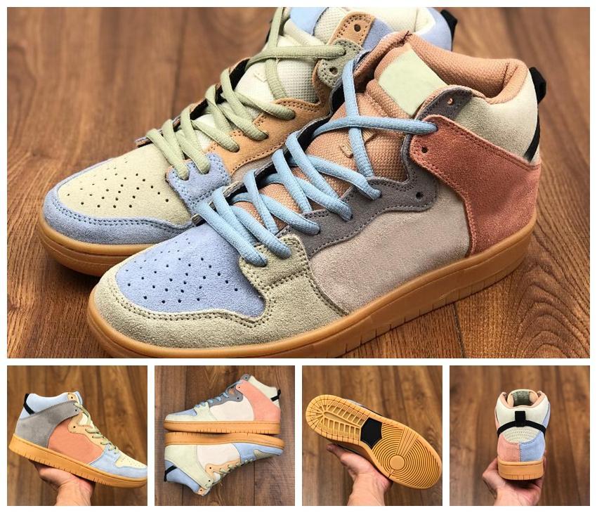 2020 New Dunk SB haute Spectrum Chaussures de course pour femmes d'hommes Sneakers Canard mandarin Hommes Baskets Chaussures des Chaussures