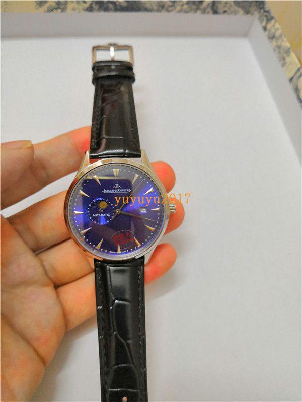 10styles mens orologi di lusso caldo di vendita orologi di cuoio automatico in acciaio inox cinghie orologi da uomo per l'uomo 09 ww1201