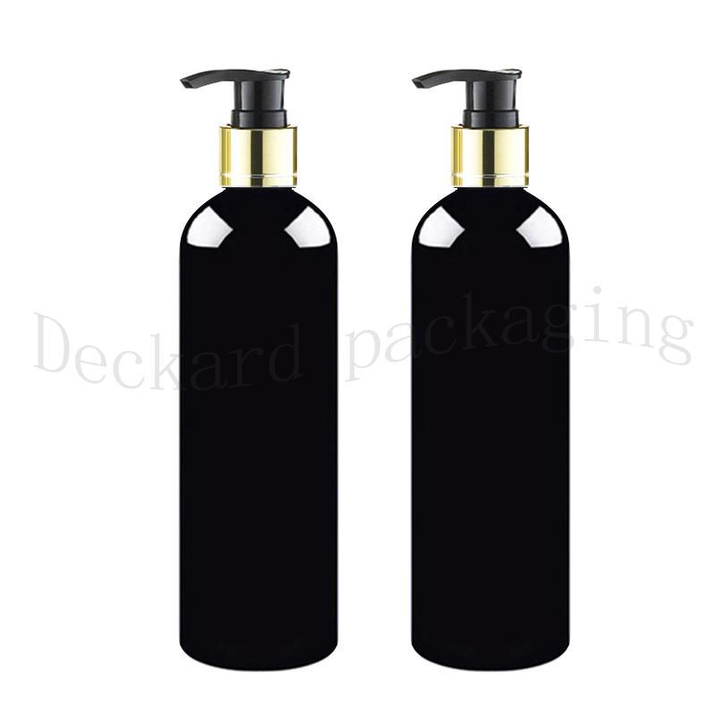 20pcs 500мл черные пустые винт золота воротник лосьон насос пластиковые бутылки, черный шампунь ПЭТ бутылок Контейнер для жидкого мыла