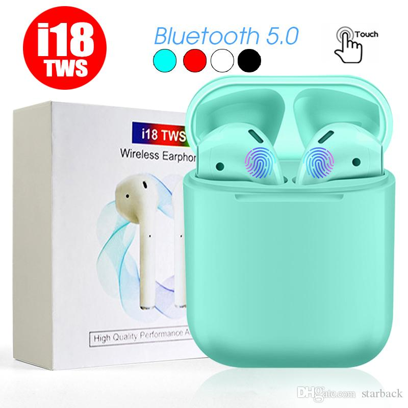 I18 TWS Twins Wireless Bluetooth Headphones Earbuds Earphones Mini Bluetooth Earbud with Mic for iPhone X IOS Android with Retail