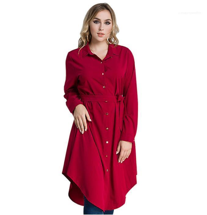 Muslim Malaysia Stand Collar Single Breasted Long Sleeved Dress Middle East Women Casual Shirt Dresses
