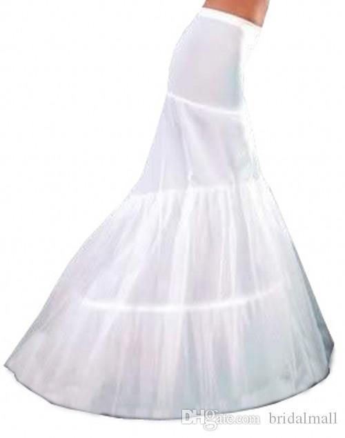 Vit elfenben 1 hoop tulle sjöjungfrun kvinna petticoat slip för bröllop brud klänning stretchy lady underskirt crinoline full formell fest kväll