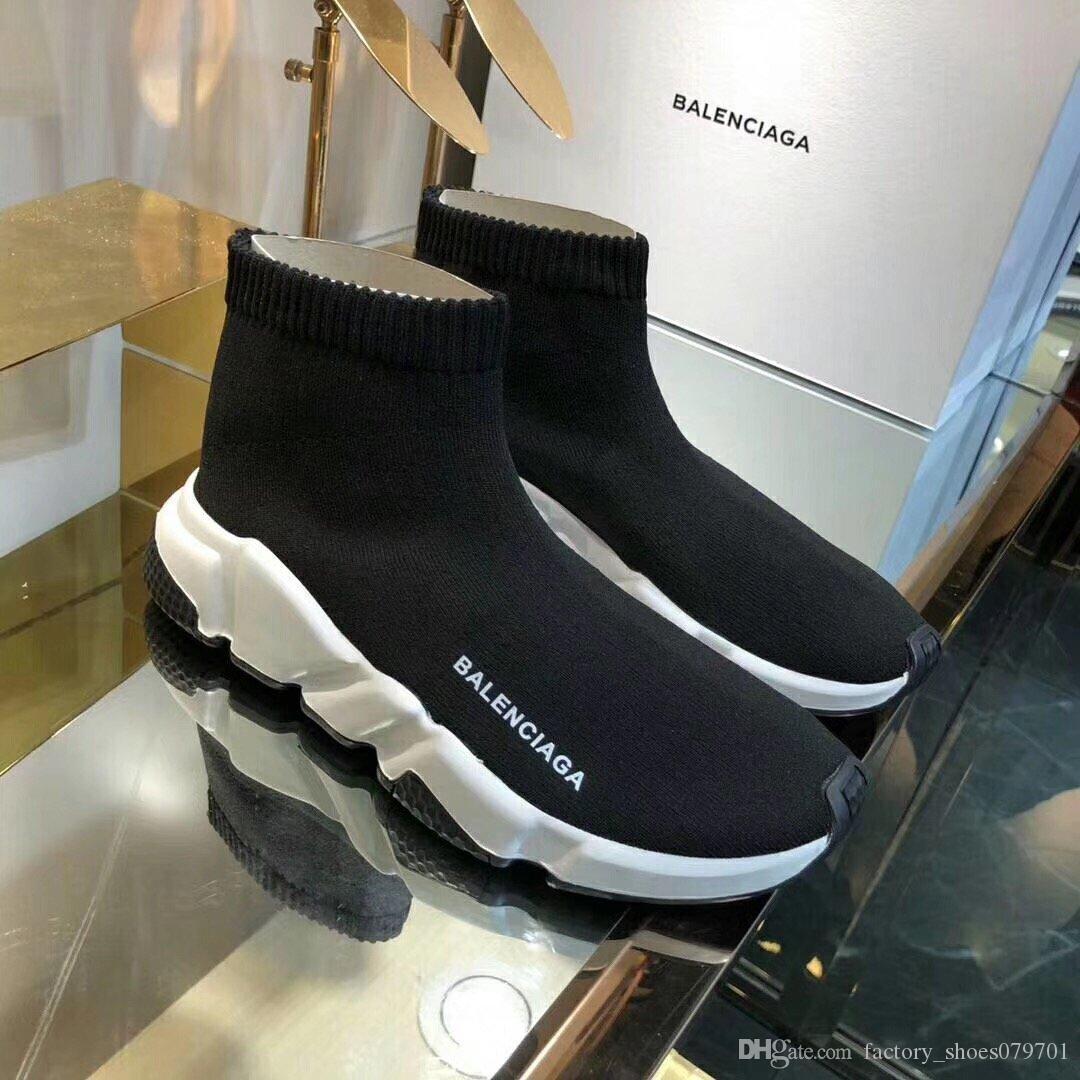 2020 NOVO sc luxo designer casal esticar meias sneakers casal meias sapatos casuais mulheres de alta qualidade e homens sapatos casuais
