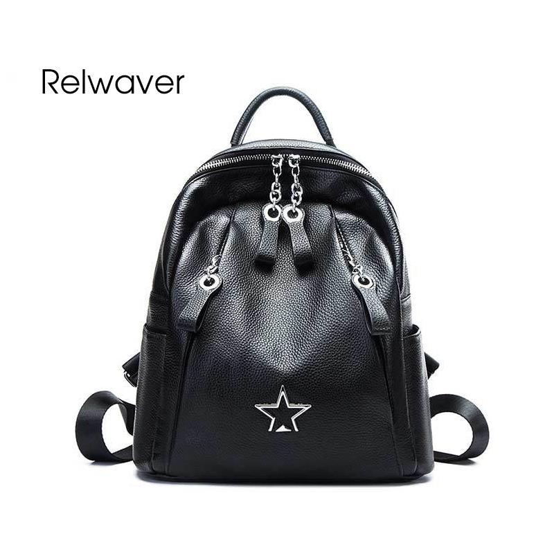 Fashion Women Genuine Leather Backpack Rucksack Carry Satchel Purse School Bag