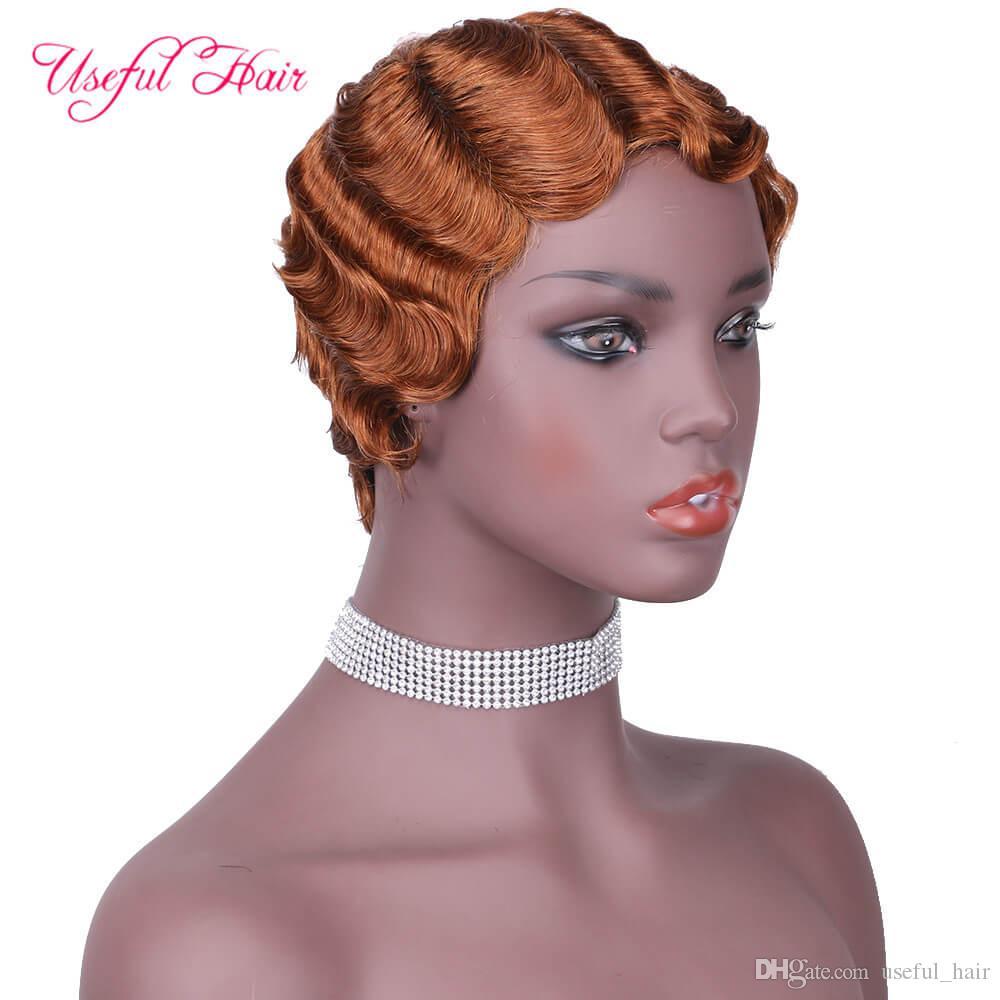 penteados para curto encaracolado franja de cabelo preto Marley Bob peruca para penteados Cabelo Preto Mulheres Non brasileira Remy peruca Preplucked para corte de cabelo