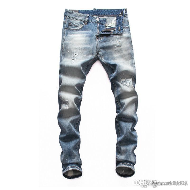 2020 Hommes affligé Déchiré Jeans De Mode Designer sœur personnelle pantalon smens noir jeans Causal Denim Pantalon Streetwear Style Hommes Jeans