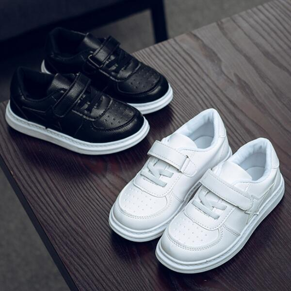 Unisex de los muchachos muchachas de los cabritos de los zapatos ocasionales Primavera Verano Otoño Little Big Kids top del punto bajo de ocio zapatos para caminar Size26-36