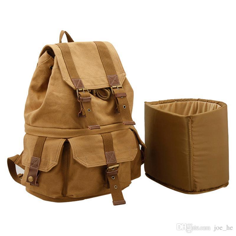Дизайнер-многофункциональный холст плечо сумка для камеры водонепроницаемый открытый путешествия досуг рюкзак легкий Canon SLR камера сумка