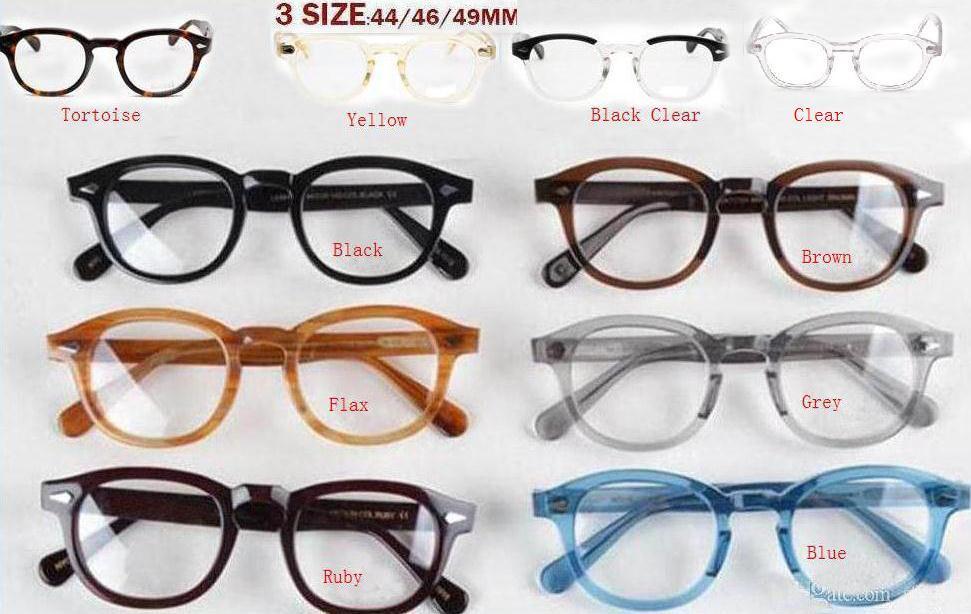 óculos de sol da marca de moda johnny linho tartaruga Preto Vermelho quadros claros 3size homens lemtosh mulheres Depp óculos de sol com caixa original