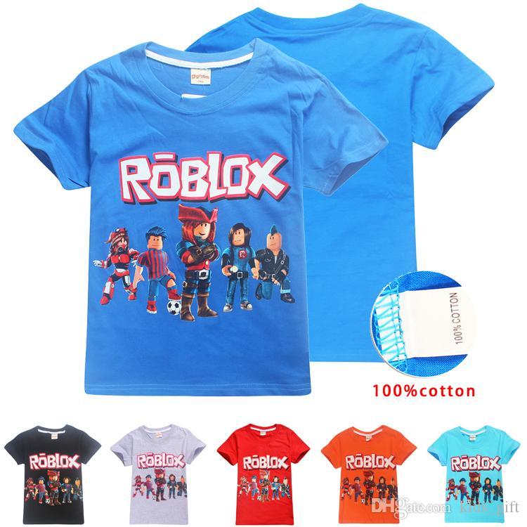 2020 Roblox Kids Tee Shirts 6 14t Kids Boys Girls Cartoon Printed