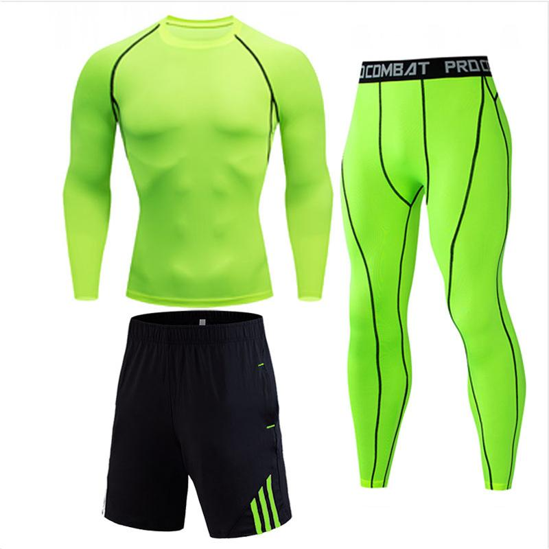 Men's Clothing Brands Long johns winter thermal underwear base layer thermal 3-2 piece tracksuit men compression Jogging suit