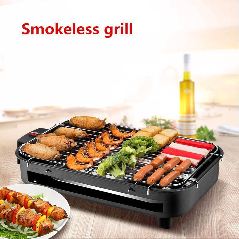 Hot Korean multi-function electric Grill household Teppanyaki smokeless electric grill bbq 220V 1300W