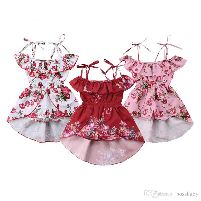 Infant Baby Kid Girl Princess Pleated Dress Party Suspender Skirt Outfit Clothes