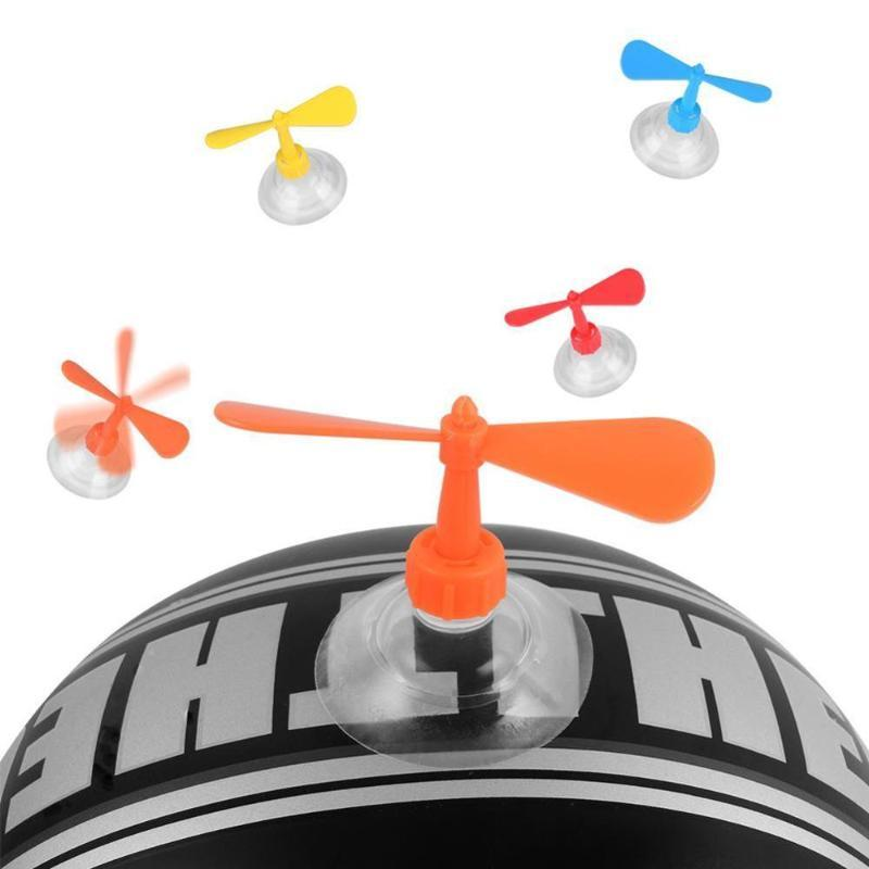 Motorcycle Helmet Accessories DIY Fashion Horn Decoration Suction Cup Rotate Fan Helmet Decoration For Children Gifts