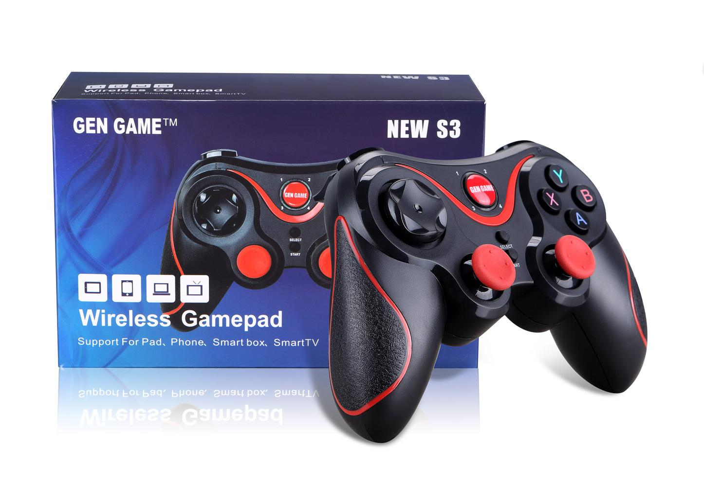 iPega PG 9077 무선 블루투스 게임 패드 2.4G 브래킷 조이스틱 Android Win 게임 콘솔 플레이어 스마트 폰 PS3