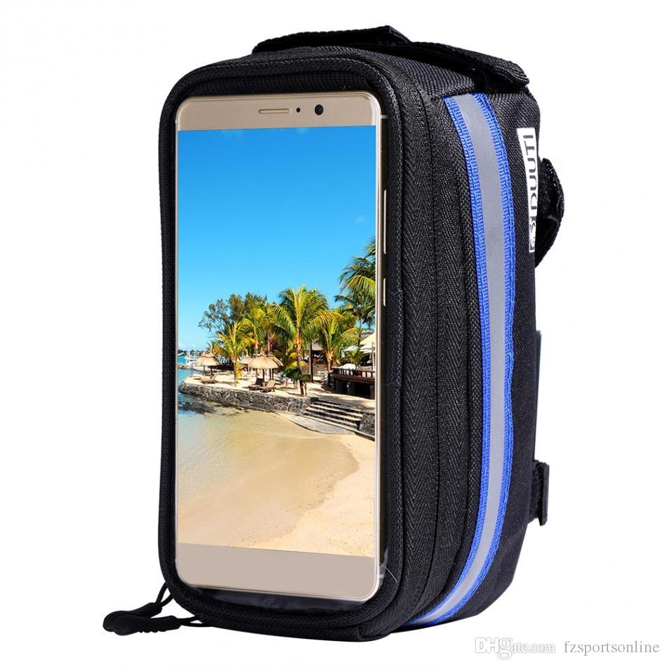 DUUTI Waterproof Touch Screen Bicycle Bags Cycling Mountain Bike Frame Front Tube Storage Bag for 4.7/5.5 inch Mobile Phone #257370