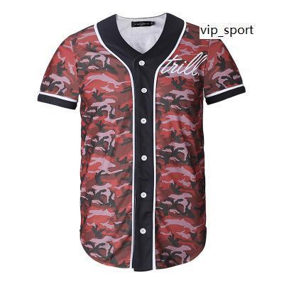 On-line Novo Estilo Homens Baseball Jersey Camisa Esporte Com Botão 3D Moda Boa Qualidade 15 Barato